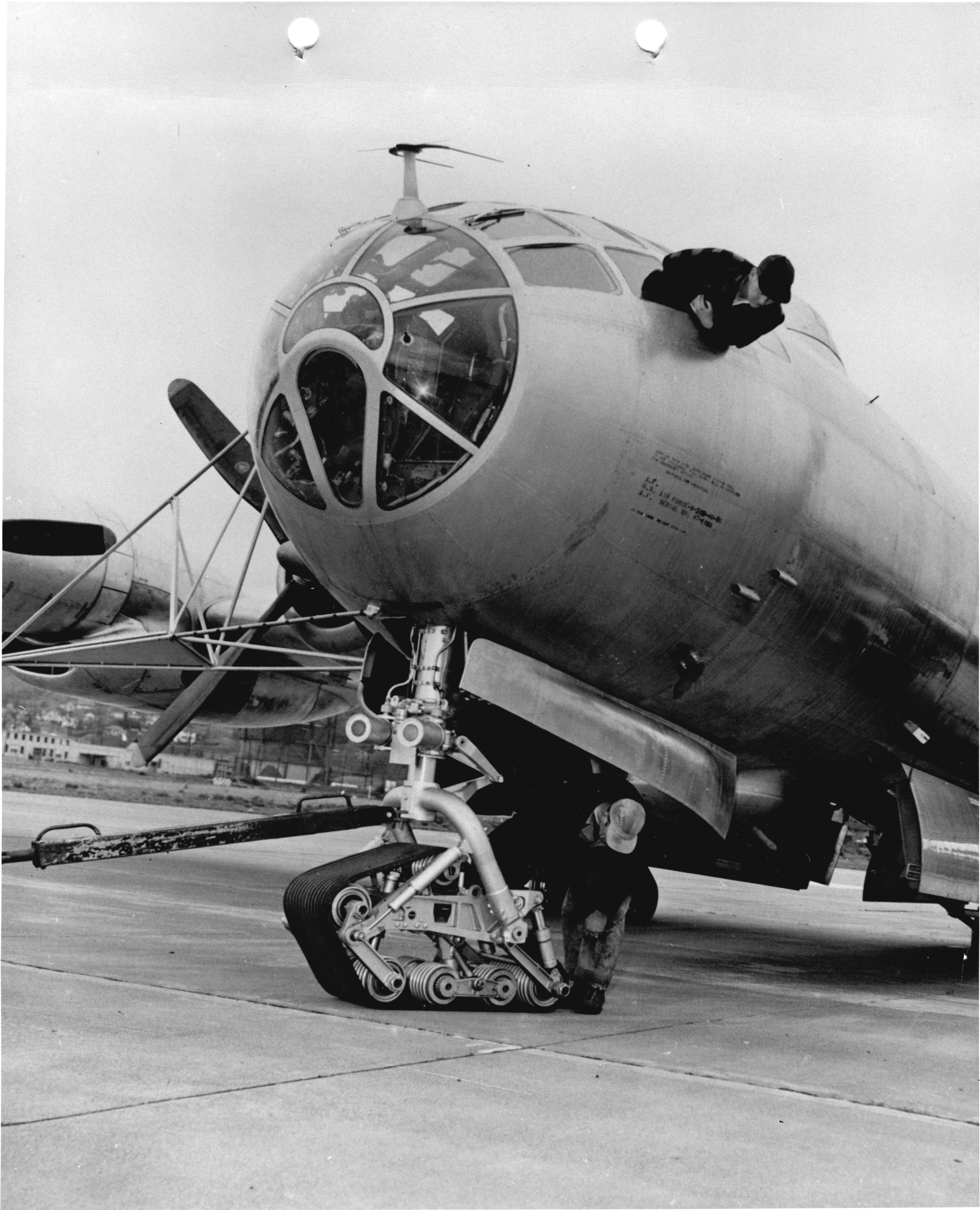 Boeing B-50 with Track Landing Gear