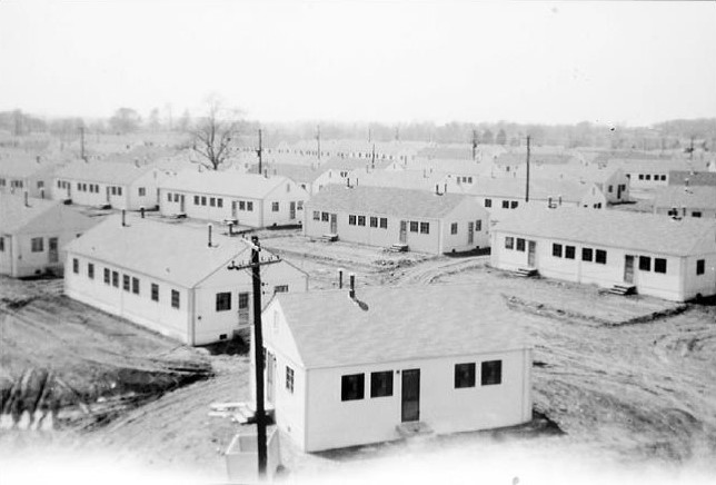 Housing erected under the Lanham Act for military industry workers in Southern Indiana who worked for the Indiana Army Ammunition Plant; many of these homes are still occupied today.