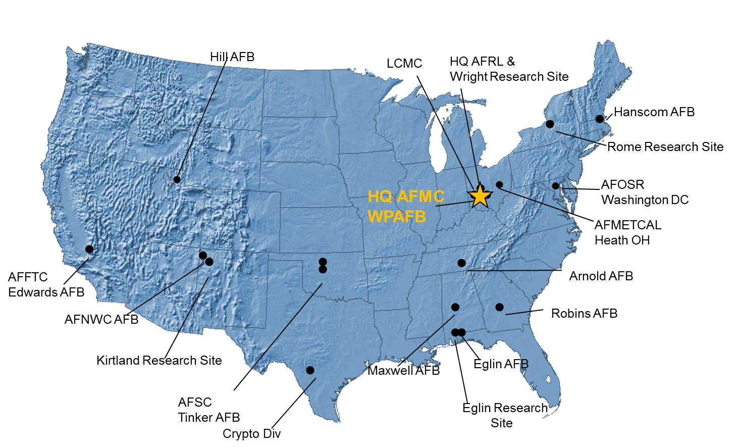 AFMC Small Business Office - Washington dc hubzone map